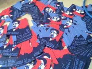 Stickers droit d'asile pour Edward Snowden