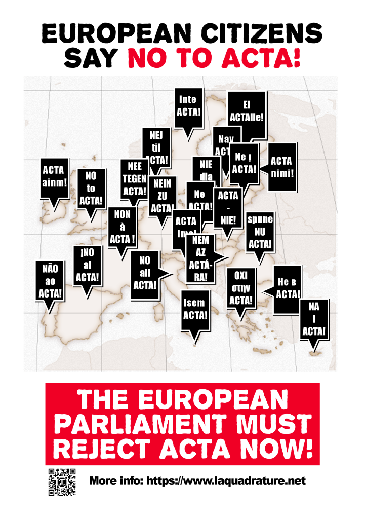 The EP must reject ACTA