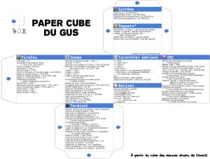 papercube du gus